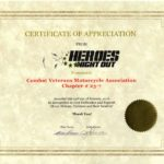 2016 Heroes Night Out Award Letter
